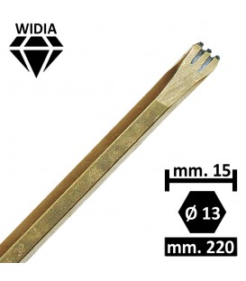 GRADINA WIDIA 15 MM. 3 PUNTE
