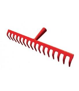 Rastrello in acciaio 16 denti 43 cm