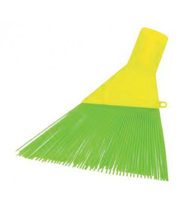Scopa ppl a fili per esterni verde piatta
