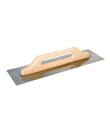 Frattone in acciaio a 2 mani modello tedesco tipo liscio con manico in legno