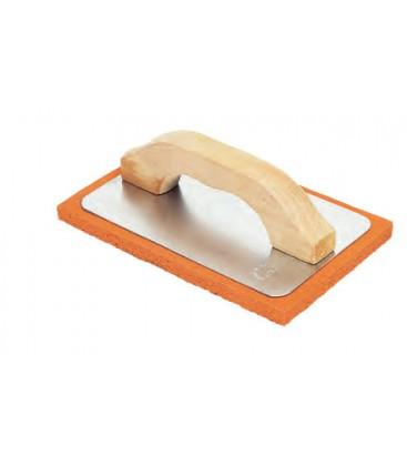 Frattone gomma spugna arancio morbida supporto alluminio manico in legno